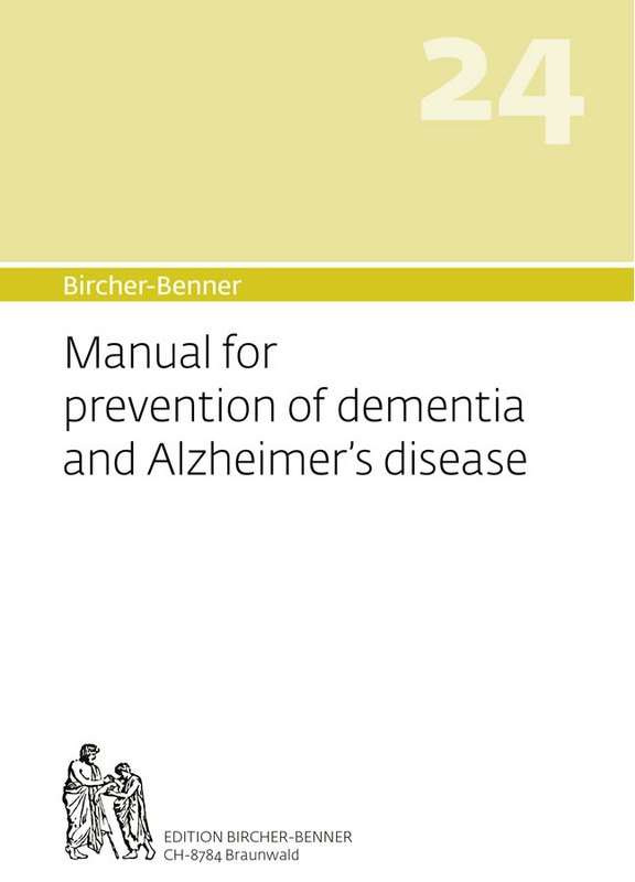 Bircher-Benner manual 24 of demnetia and Alzheimer